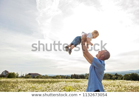 少年 父 屋外 フィールド ストックフォト © Lopolo
