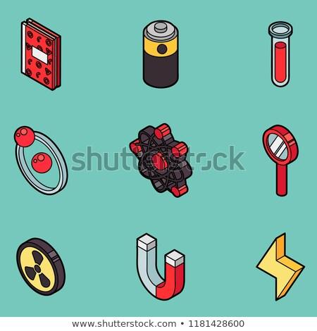 Physik Farbe Gliederung Symbole Wissenschaft Ausrüstung Stock foto © netkov1