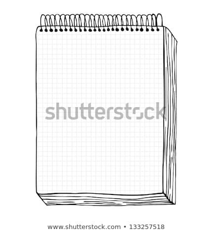 Büro Seiten Korrespondenz Vektor monochrome Gliederung Stock foto © robuart