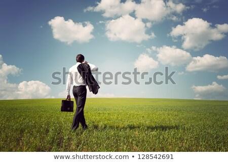 Stockfoto: Zakenman · werken · kantoor · ceo · aktetas · lopen