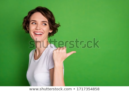 green background in white point stock photo © andreyfire