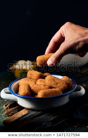 Chicken croquettes on the table Stock photo © boggy