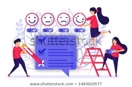 Cuestionario estudio personas dar responder vector Foto stock © robuart