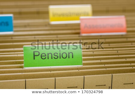 File folders with a tab labeled Pension Stock photo © Zerbor