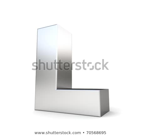 chrome font with colorful reflections letter l 3d stock photo © djmilic
