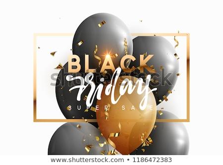 Nagy vásár black friday promo címkék léggömb Stock fotó © robuart