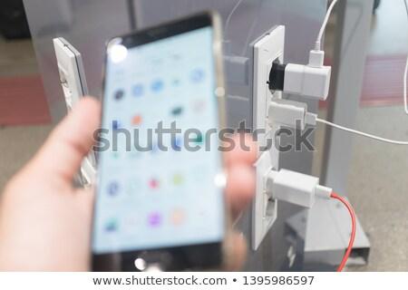 Móvel bateria estação público celular plugue Foto stock © galitskaya