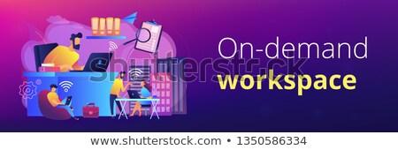 都市 作業領域 バナー ヘッダ ビジネスマン 無線lan ストックフォト © RAStudio