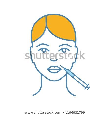 kozmetik · enjeksiyon · ağız · kıdemli · kadın - stok fotoğraf © winner