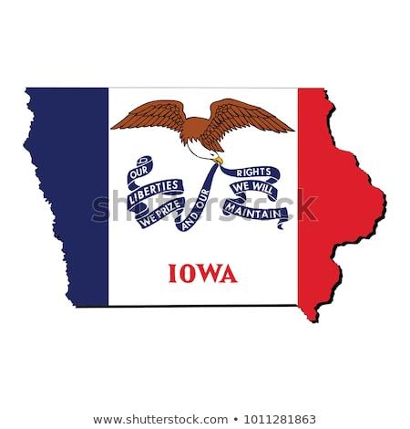 State of Iowa flag Stock fotó © grafvision