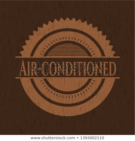Color vintage air conditioning emblem Stock photo © netkov1