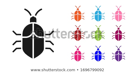 System bug concept. Code bug concept. Vector bug in the system.  Stock photo © kyryloff