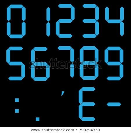 Dígitos exibir eletrônico discar calculadora números Foto stock © Andrei_