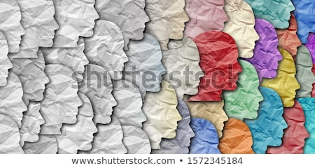 Cultural Diversity illustration of diverse ethnic people Stock photo © cienpies