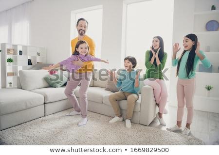 Aile ebeveyn üç çocuklar örnek çocuk Stok fotoğraf © colematt