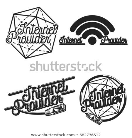 Color vintage internet provider emblems Stock photo © netkov1