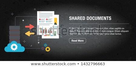 Dokumentu app interfejs szablon zespół firmy laptop Zdjęcia stock © RAStudio