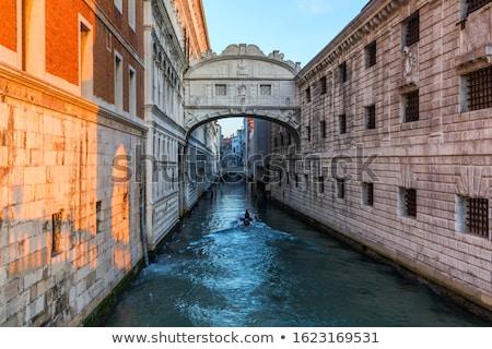 ストックフォト: 橋 · ヴェネツィア · 表示 · 運河 · 宮殿 · イタリア