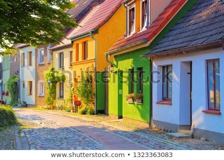 Typisch oude straat oude binnenstad Stockfoto © LianeM