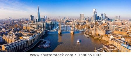 Londres · silhueta · pôr · do · sol · céu · edifício - foto stock © liolle
