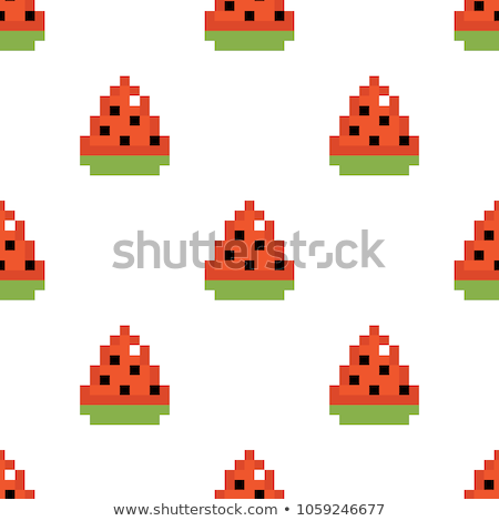 Watermelon pixel art Stock photo © sifis