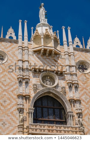 Ornate facade at southern side of Doge Palace on San Marco squar Stock photo © boggy