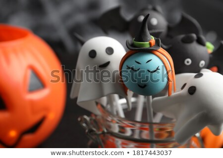 Creative Halloween background with different decor Stock photo © furmanphoto