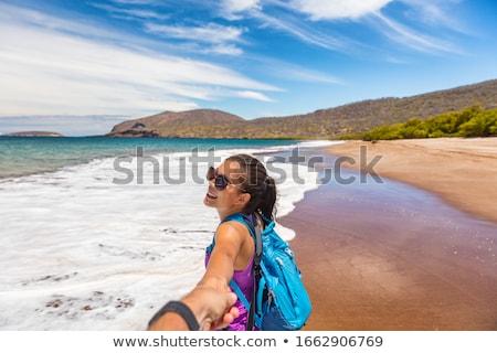 Turísticos viaje playa Santiago isla Foto stock © Maridav