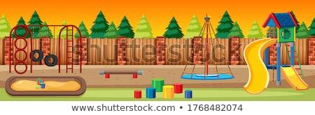 遊び場 シーン 実例 空っぽ 光 背景 ストックフォト © bluering