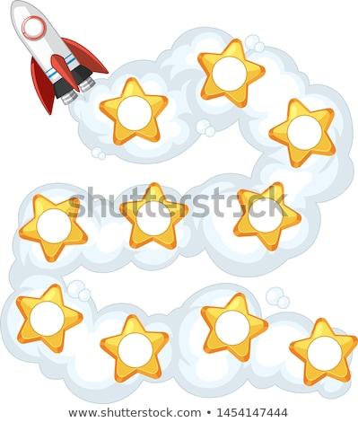 ロケット 星 デイジーチェーン チェーン フォーマット 数学 ストックフォト © bluering