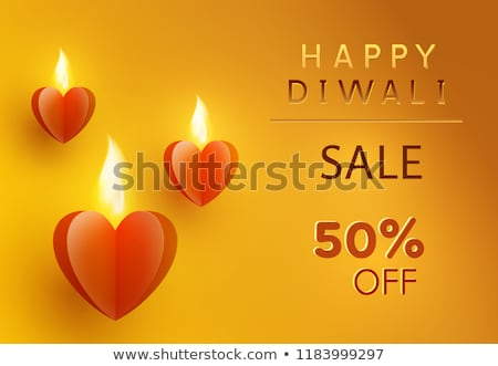 Happy Diwali Promo Poster Vector Illustration Stock photo © robuart