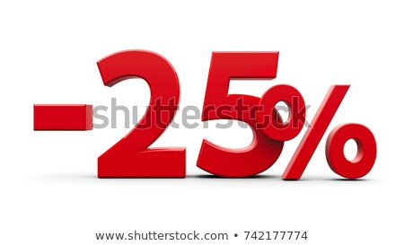 3D · красный · пятьдесят · три · процент · белый - Сток-фото © iserg