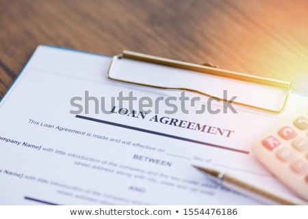 Approved Stamp And Home Loan Application Form Stock photo © albund