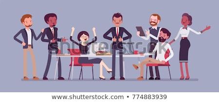 Equipe bem sucedido startup ilustração duas mulheres dois homens Foto stock © robuart