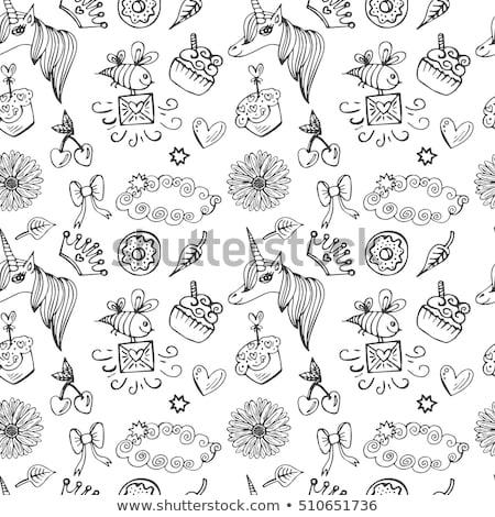 cartoon hand drawn doodles birthday theme seamless pattern stock photo © balabolka
