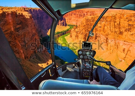 aerial view of grand canyon from helicopter stock photo © dolgachov