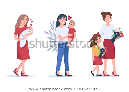 mother and child childcare motherhood family stock photo © robuart