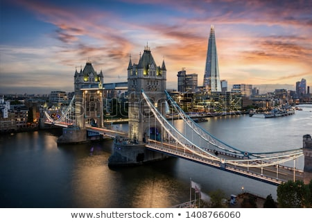 Tower Bridge and Thames River in London, UK Stock photo © nito