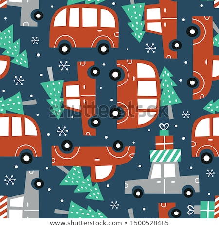 Cute vector seamless pattern with white snowflakes on dark blue background for winter and Christmas  Stock photo © Pravokrugulnik
