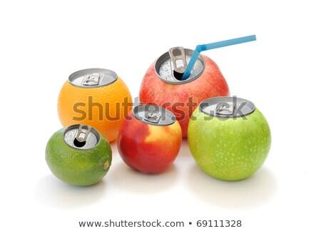 リンゴ · 白 · 高い · 3D - ストックフォト © lichtmeister