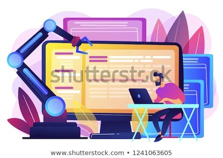 Nyitva automatizálás építészet fejlesztő laptop számítógép robotikus Stock fotó © RAStudio