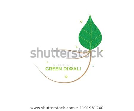 Stock photo: Happy Diwali Celebration Eco Green Background Concept