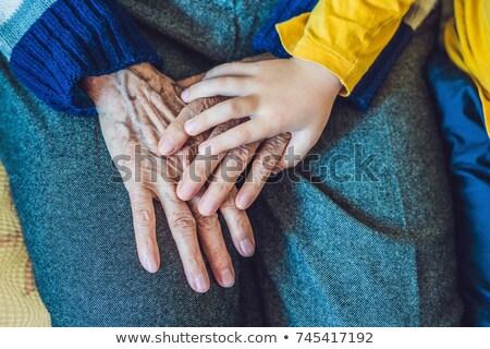 siluet · ebeveyn · el · çocuk · küçük · aile - stok fotoğraf © galitskaya
