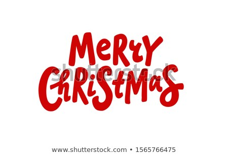 Merry Christmas. Lettering phrase on grunge background. Design element for poster, card, banner.  Stock photo © masay256