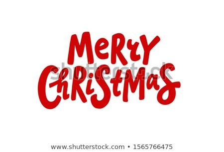 alegre · natal · grunge · cartaz - foto stock © masay256