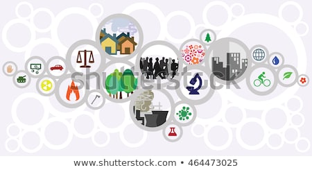 Economisch ontwikkeling banner megafoon groei Stockfoto © RAStudio
