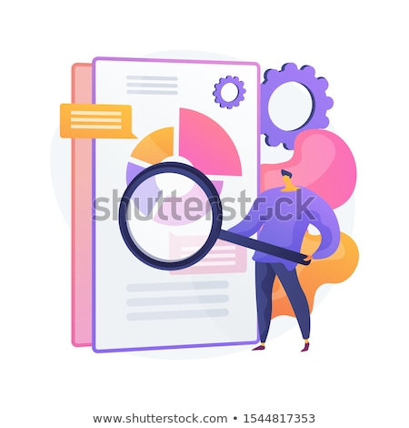 Affaires documents vecteur métaphore électronique ligne Photo stock © RAStudio