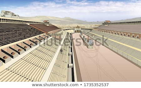 the circus maximus and ancient rome landmarks view stock photo © xbrchx