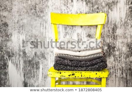 Trykotowy ciepły szary biały wełniany Zdjęcia stock © dashapetrenko