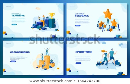 Customer feedback - set of vector web pages Stock photo © Decorwithme